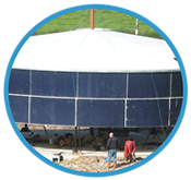 Standard agricultural tanks; Agricultural tanks constructed, cheap and quick to install.