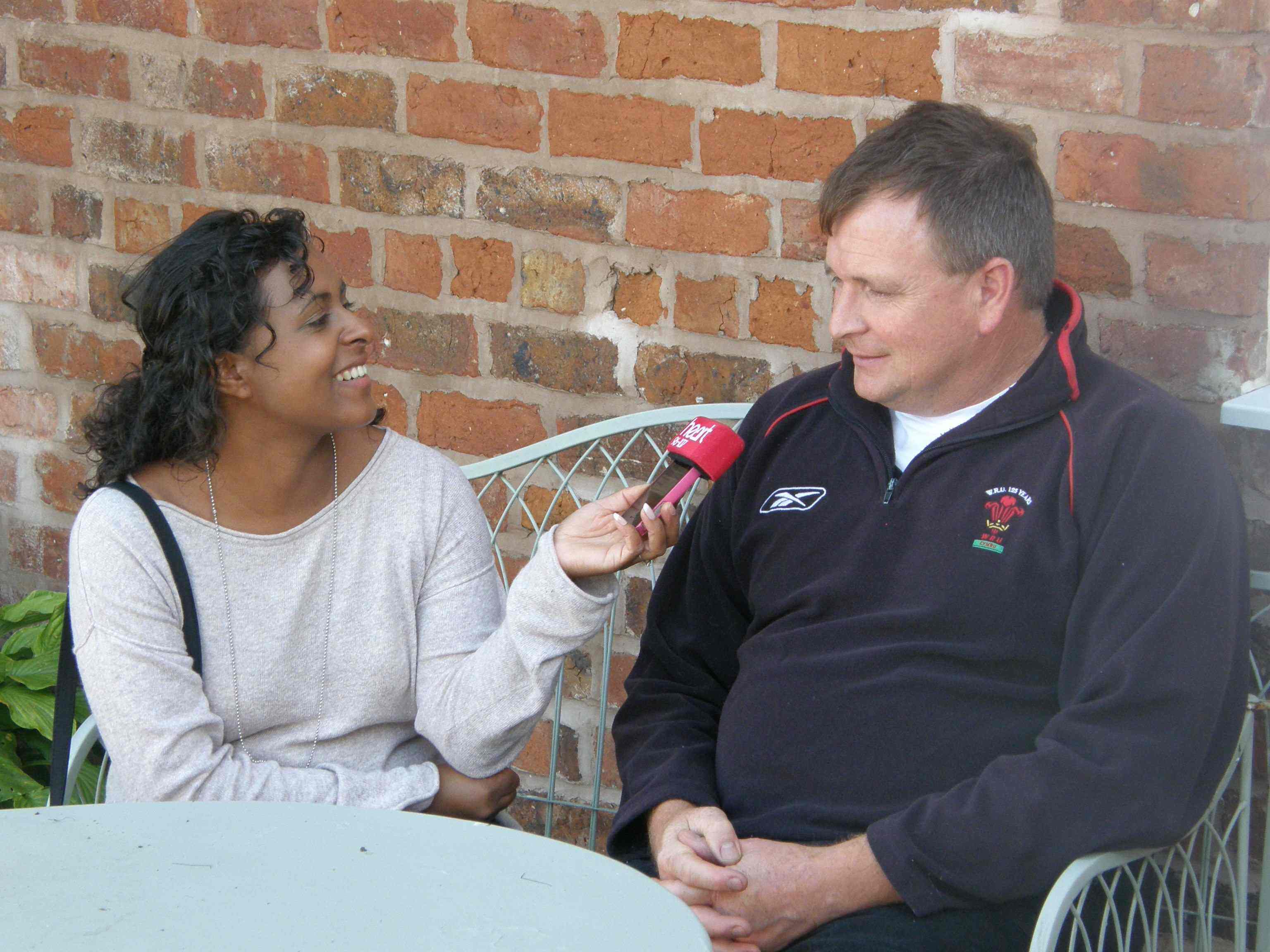 Richard Tomlinson being interviewed by Charlene Smith