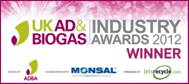 UK AD & Biogas Industry Awards 2012 Winner - logo
